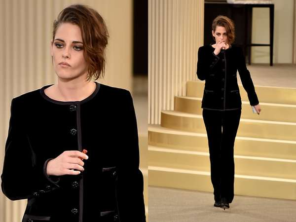 Kristen Stewart Tampil Serba Hitam di Paris Fashion Week