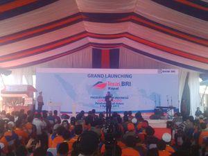 Jokowi Resmikan Bank Kapal Milik BRI di Teluk Jakarta