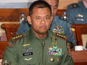 Jenderal Gatot-Komisi I Rapat Bahas Anggaran TNI