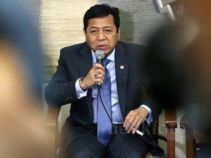 Jumpa Pers Novanto-Fadli Zon Sepulang dari AS