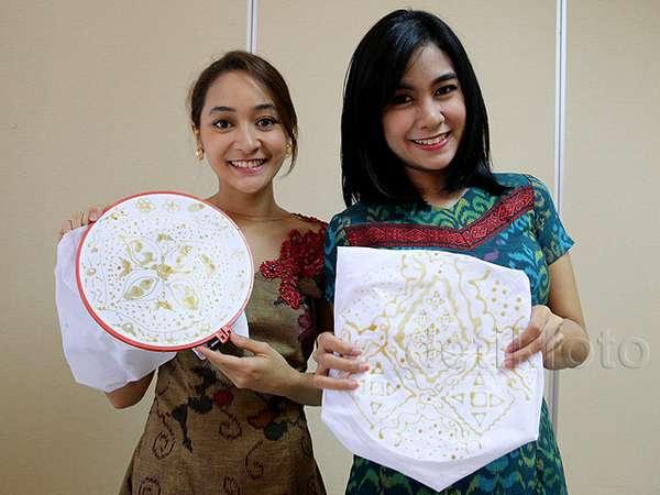 Seperti Apa Hasil Membatik Anisa Rahma dan Raisa? Ini Fotonya!