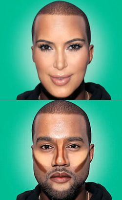 Ketika Wajah Kanye West Bertransformasi Jadi Kim Kardashian