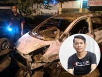 Mobil Aris Eks Idol Ludes Terbakar di Kalimalang
