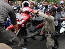Ratusan Sepeda Motor Terjaring Razia Parkir Liar