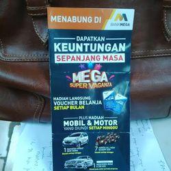 Nabung di Bank Mega, Dapat Bonus Motor dan Mobil Tiap Minggu