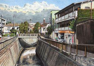 Goresan Mengagumkan Kota Jepang Bermodal Pensil Warna