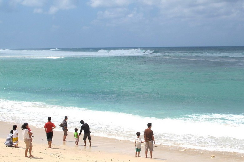 Pantai Pandawa di Bali yang berpasir putih (Afif/detikTravel)