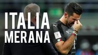 Tangis Buffon dan Wajah Kusut Suporter Italia