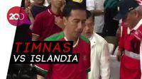 Jokowi Pakai Jersey Timnas Resmikan Renovasi SUGBK dan Saksikan Laga