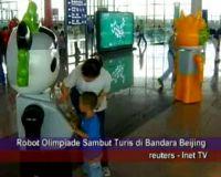 Robot Olimpiade Sambut Turis di Bandara Beijing