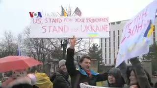 Krisis Ukraina, Kedutaan Rusia di Amerika Didemo