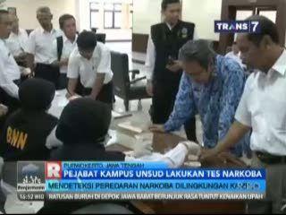 Pejabat Kampus UNSUD Lakukan Tes Narkoba