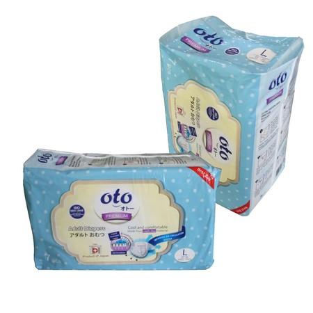 Oto Adult Diapers Premium L 7S  Oto Adult Diapers Premium L 7S Merupakan Popok Dewasa Yang Memiliki Permukaan Lembut Serta Sirkulasi Udara Sehingga Tidak Panas Saat Digunakan. Popok Dewasa Ini Juga Memiliki Frontal Tape Atau Perekat Pelindung Yang Tidak M