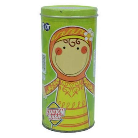 perman Stasion Rasa dalam variasi kemasan kaleng yang cocok disuguhkan di hari raya. Nikmat dan mudah dikunyah bahkan oleh anak-anak.
