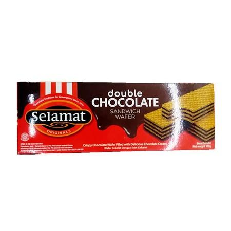 Selamat Double Choco 198Gr Selamat Double Choco 198GrMerupakan Snack Wafer Selamat Yang Dibuat Dengan Tekstur Wafer Cokelat Panjang Yang Renyah Dan Gurih. Lapisan Krim Cokelat Yang Tebal Di Antara Setiap Wafer Selamat Ini Juga Mampu Memanjakan Lidah Ka