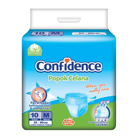 Confidence Is Adult Diaper Pants For Active Elderly Conditions (Incontinence) That Is Easy To Use. The Shape Is Fit To Body, Does Not Bulge When You Wear It Feels Like Using Underwear. Confidence Adult Pants Has A High Absorption Thefore Can Be Used Longe