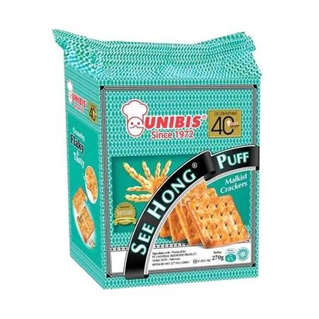 UNIBIS See Hong Puff Biskuit adalah crackers yang dibuat dengan menggunakan bahan baku berkualitas untuk memberikan nutrisi dan energi yang mendukung Anda dalam melakukan kegiatan sehari-hari. Memiliki citarasa yang nikmat dan lezat yang dapat memanjakan