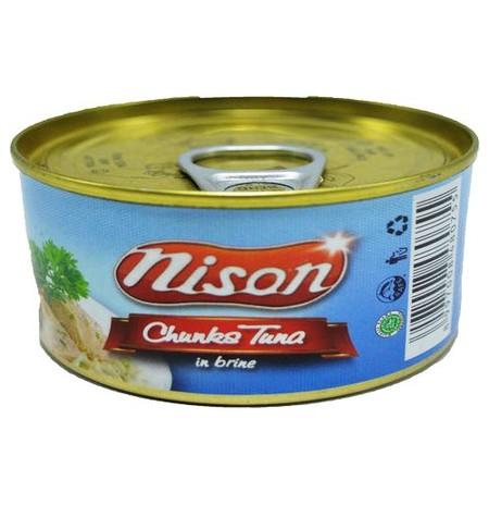 Tuna Nison Chunk Air Garam 185gr. Tuna suwir dengan tambahan air garam. Rasanya yang enak dan juga mengandung sumber asam omega-3.