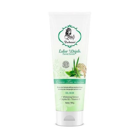 Purbasari Lulur Wajah merupakan scrub wajah yang formula aktifnya dapat membersihkan komedo dan mengangkat sel kulit mati. Mengandung ekstrak whitening , jojoba oil, dan Vitamin E.