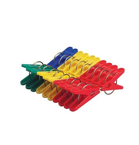 Lion star jepitan baju plastik isi 20 dengan warna merah dan biru
