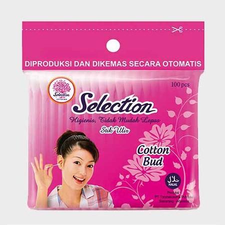 Selection Cotton Bud aman digunakan, kapasnya tidak mudah lepas, diproses dan dikemas dengan higienis tanpa tersentuh tangan manusia.