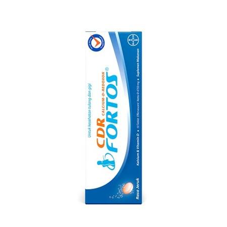 CDR Calcium D Redoxon Fortos Suplemen [10 Tablet] adalah suplemen CDR Fortos dalam rasa jeruk segar, sebagai cara tepat bagi Anda yang ingin tetap hidup aktif. Semakin bertambahnya usia, berarti kebutuhan kalsium Anda meningkat. Jika tidak terpenuhi, tubu