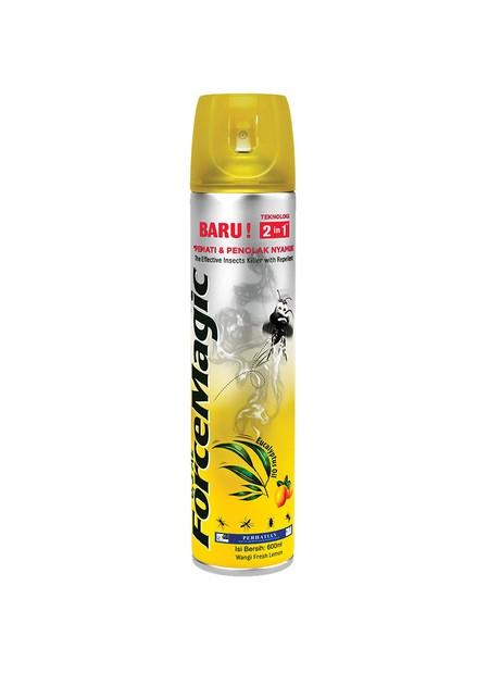 Force Magic Adalah Produk Obat Nyamuk Semprot (Aerosol) Dengan Bahan Aktif Synthetic Pyrethroids (Prallethrin & Permethrin). Bahan Aktif Force Magic Terinspirasi Dari Pyrethrum, Yang Merupakan Insektisida Alami Yang Terkandung Dalam Bunga Chrysanthemum.