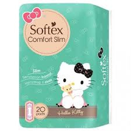 Softex Comfort Slim (Non Wing) is a slim-type sanitary napkins with the ability to absorb 1 second for dry surface, hypoallergenic & less odor system. Suitable for you who needs comfort, health, and secure when period comes.