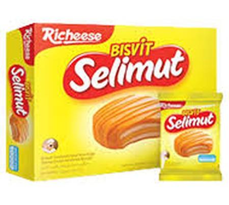 Bisvit selimut adalah biskuit sandwich yang dilapisi dengan limpahan krim yang lezat dan mengandung berbagai macam vitamin seperti vitamin A, B1, B2, B6, & B12.