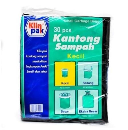 Klin pak kantong sampah plastik ukuran kecil 40x50cm isi 30 pcs
