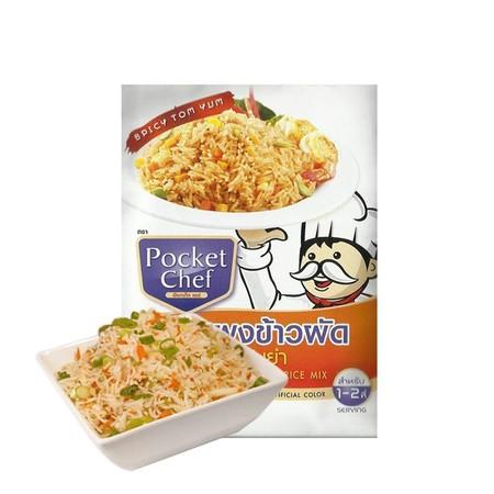 Pocket Chef Tom Yum Fried Rice Mix 12Gr Merupakan Bumbu Yang Dapat Digunakan Untuk Membuat Nasi Goreng.