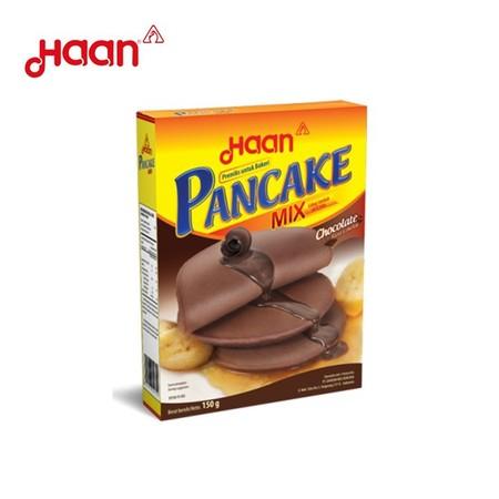 Tepung pancake rasa cokelat yang mudah dan praktis, dengan Haan Pancake mix membuat pancake menjadi lebih mudah dibuat dan hemat waktu.