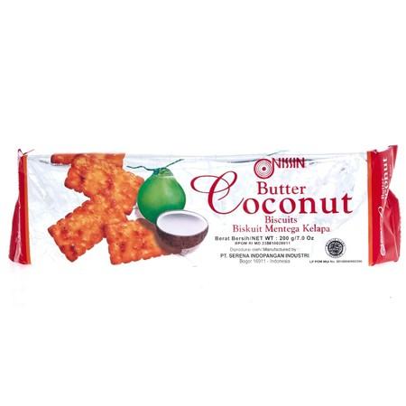 adalah biscuit yang terbuat dari bahan-bahan berkualitas tinggi dengan tekstur renyah dan rasa mentega kelapa yang nikmat, sehingga ideal dijadikan sebagai cemilan untuk menemani saat santai Anda bersama keluarga.