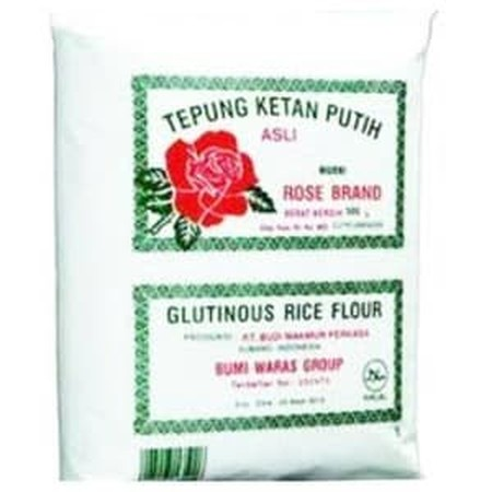 Tepung ketan rose brand adalah tepung yang terbuat dari ketan terbaik secara higienis, cocok untuk keperluan semua jenis hidangan dan aneka kueh anda. Tepung yang sangat baik untuk setiap masakan anda karena tepung ketan ini mengandung sumber zat besi yan