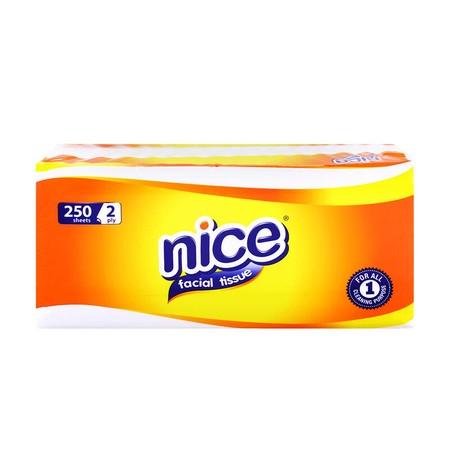Nice Facial merupakan salah satu varian tisu wajah dari NICE. Terbuat dari 100% serat alami (Virgin Plantation Pulp) yang membuatnya lembut dan nyaman di kulit, serta diproses secara higienis untuk menghasilkan tisu halus berkualitas