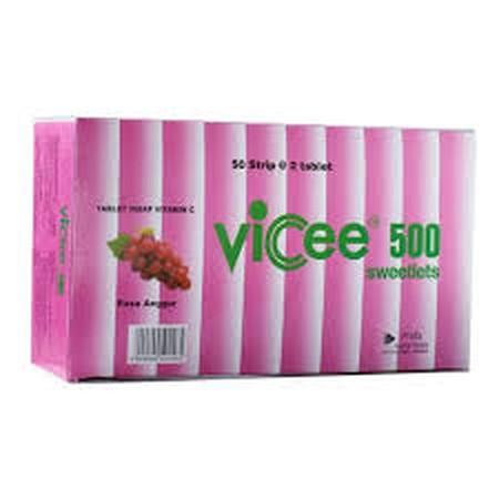 Mencegah dan mengobati defisiensi vitamin C, terutama dalam masa pemulihan dari sakit. Mencegah sariawan. Mengobati perdarahan gusi. VICEE 500 merupakan suplemen yang mengandung vitamin C. Suplemen ini digunakan untuk membantu memenuhi kebutuhan vitamin C