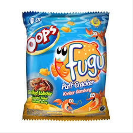 Biskuit Fugu Adalah Biskuit Cracker Yang Pas Di Mulut Berbentuk Ikan Gembung Yang Lucu Ditambah Dengan Taburan Bumbu Yang Lezat Dan Gurih Serta Di Proses Dengan Cara Di Panggang Sehingga Bebas Minyak.Cocok Untuk Segala Suasana Dan Membawa Keceriaan Untuk