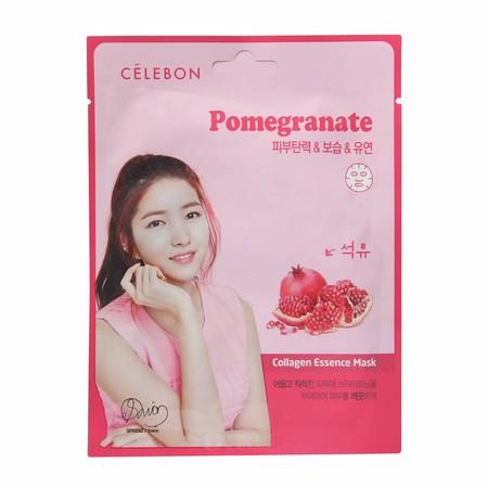 Celebon Pomegranate Collagen Essence Mask Merupakan Masker Wajah Yang Memiliki Kandungan Vitamin E Dan Kolagen Memberikan Nutrisi Untuk Kulit Serta Membuat Kulit Lebih Cerah. Masker Ini Terbuat Dari Bahan Berkualitas Yang Aman Untuk Digunakan.