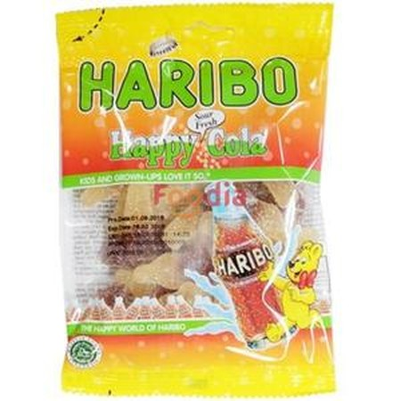 Haribo Happy Cola Sour Fresh Are The Sour Version Of The Original Cola Sweets. They Tingles On The Tongue, Are Extremely Delicious And Give The Refreshing Taste Of Coke. Share These With Everyone So That They Can All Enjoy The Refreshing Taste Of Haribo S