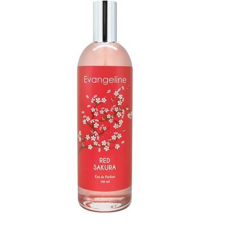 EVANGELINE Perfume Red Sakura merupakan parfum yang memiliki wangi yang tahan lama dan mampu memberikan kesegaran sepanjang hari. Parfum ini hadir dengan aroma Red Sakura yang memiliki wangi yang menyegarkan. Parfum ini sangat cocok Anda gunakan untuk ber