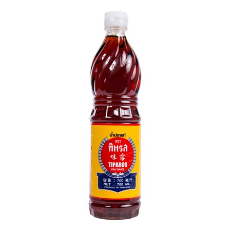Tiparos Thai Fish Sauce which is called Nam Pla in Thai, used in Thai cooking in a similar way to soy sauce. Fish sauce is an essential condiment for Asian cooking, especially Thai and Vietnamese. The tiparos fish sauce is saltier and strongly flavoured.