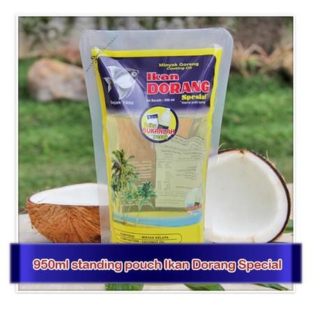 Minyak Goreng Ikan Dorang Spesial diproses dari bahan baku kelapa kopra berkualitas tinggi. Warna minyak goreng yang putih bening, dan tidak cepat menghitam sangat cocok untuk segala kebutuhan masak memasak.