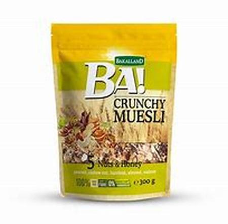 Bakalland Ba! Crunchy Muesli 5 Seeds With Honey Adalah Makanan Berenergi Tinggi. Terbuat Dari Gandum Panggang Dengan Campuran Berbagai Biji-Bijian Bernutrisi Tinggi Seperti: Pumpkin Seeds/Biji Labu, Sunflower Seeds/Biji Bunga Matahari, Sesame Seeds/Biji W