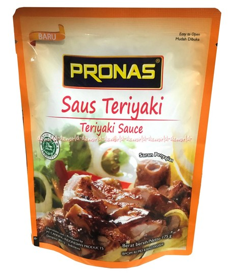 Pronas Stir Fry Sauce Teriyaki Suitable To Cook Various Kind Of Dish.  Ingredients: Sugar, Water, Soy Sauce (Contain Of Flavour Enhancer Inosinate Guanylate, Preservative Sodium Benzoate), Modified Starch, Spices, Vinegar, Vegetable Oil (Contain Of Antiox