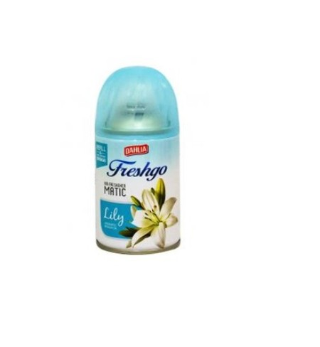Dahlia Freshgo Fresh Lily Refill merupakan pengharum udara berbentuk aerosol yang dapat memberikan kesegaraan alami dan tahan lama di ruangan rumah. Pengharum ruangan dengan dengan keharuman yang menyegarkan.