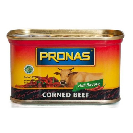 Our Best Selling Product, Pronas Corned Beef Contain Protein And Mineral For Health Benefits.  Ingredients:  Soy Protein, Beef (28%), Water, Wheat Flour, Salt, Sugar (Contain Of Sulfite Preservative), Spices, Stabilizer Sodium Tripolyphosphate, Flavour En