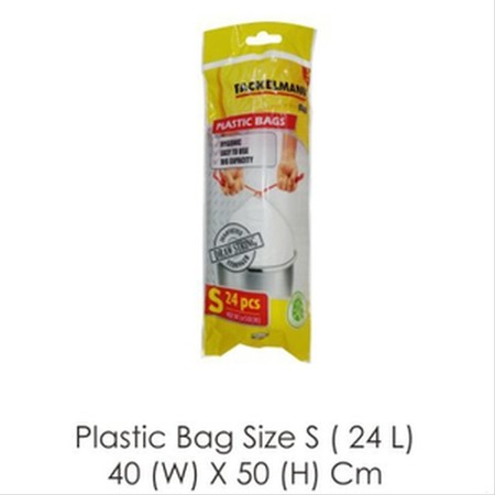 Fackelman Bin Bag Size S Made of plastic Capacity 24 Liters Dimensions of 40 x 50 cm Made of quality material Products with German standards