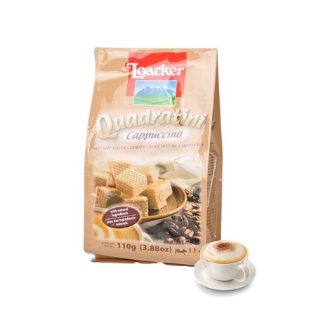 Delicious Coffee Pleasure . Four Layers Of The Smoothest Cream Filling Are Held By Five Light, Crispy Wafers. The Delicate Cappuccino Cream Will Guarantee Particularly Creamy Coffee Pleasure! To Meet The High Standards Of Coffee Lovers, Loacker Attaches G