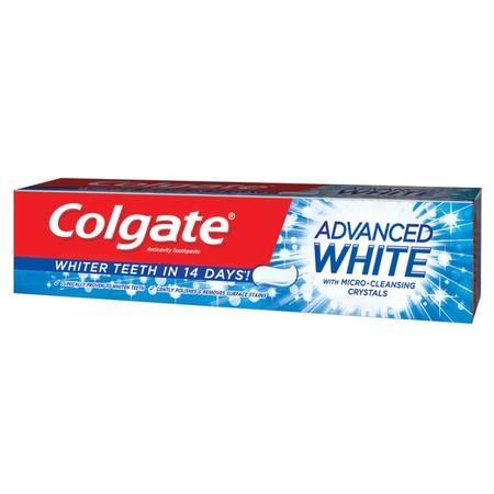 Colgate Advance White Mengandung Micro-Cleaning Crystal Yang Secara Klinis Terbukti Efektif Membuat Gigi Lebih Putih. Hanya Dalam Waktu 14 Hari Pemakaian Pasta Gigi Ini Secara Teratur Dapat Membuat Gigi Lebih Putih.   Cara Penggunaan: Sikatlah Gigi Setiap