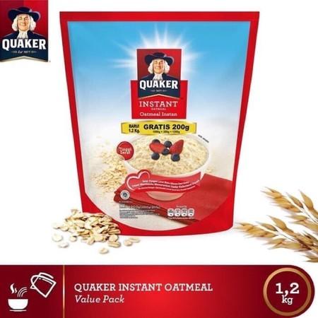 Quaker Instant Oatmeal 1200 Gr Pilihan Tepat Sebagai Makanan Sehat. Manfaat Oatmeal Memang Terbukti Sebagai Makanan Sehat Yang Dapat Mengurangi Resiko Penyakit Jantung Dan Diabetes. Biasanya, Makanan Oatmeal Sering Dikonsumsi Bagi Anda Yang Sedang Menjala